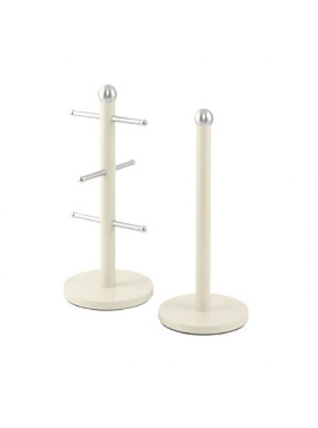 Mug Tree And Kitchen Roll Holder Stand Set  - Chantilly